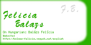 felicia balazs business card